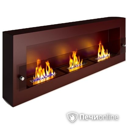 Биокамин ЭкоЛайф Fire Line Glass black, burgundy Арома